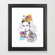 look my cat Framed Art Print