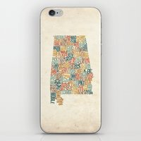 Alabama by County iPhone & iPod Skin