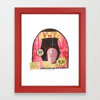 See the TOE! Framed Art Print
