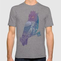 Owl King Color Mens Fitted Tee Tri-Grey SMALL