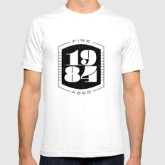 Fine Aged 1984 - Dark SMALL White Mens Fitted Tee