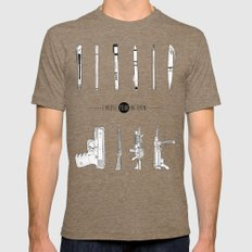 US AND THEM Mens Fitted Tee Tri-Coffee SMALL