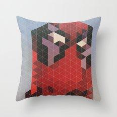 Geometric Deadpool Throw Pillow