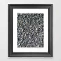 Rock Texture Framed Art Print