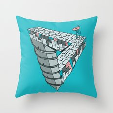 Up and Down City Throw Pillow