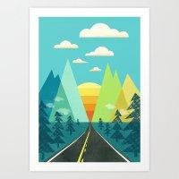 The Long Road Art Print