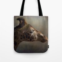 Portrait Of A Giraffe Tote Bag