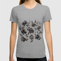 Winter Blossom Womens Fitted Tee Athletic Grey SMALL