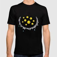 FUNNY EYEBALLS Mens Fitted Tee Black SMALL
