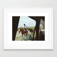 Passing Framed Art Print