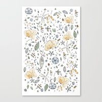 Flower Garden Watercolor Canvas Print