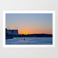 Downtown Disney Sunset II Art Print
