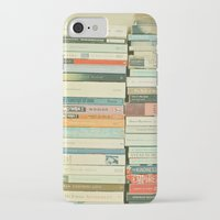 home iPhone & iPod Cases featuring Bookworm by Cassia Beck