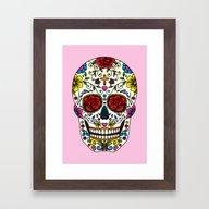 Framed Art Print featuring Sugar Skull by Jade Boylan
