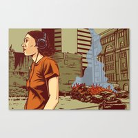 Locals Only - Portland, … Canvas Print