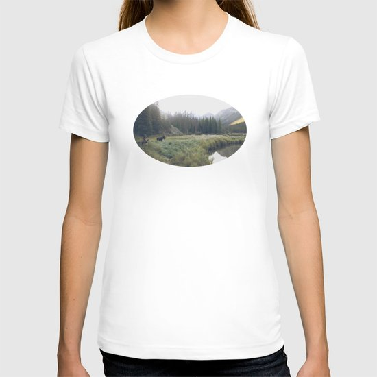 Morning Meadow Moose T-shirt
