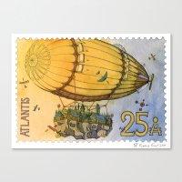 Atlantis Stamp Canvas Print
