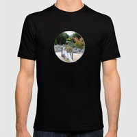 A Hole New World  Mens Fitted Tee Black SMALL