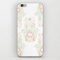 Modern Girly Pink Mint G… iPhone & iPod Skin