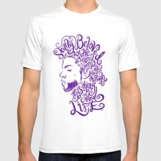 Dearly Beloved Prince Mens Fitted Tee SMALL White