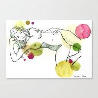 Conil 01 Acuarela Waterc… Canvas Print