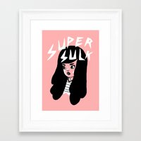 Super Sulk Framed Art Print