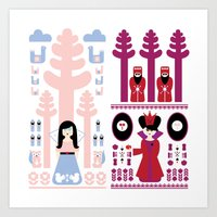 Good vs Evil: Snow White and the Evil Queen Art Print