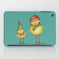Two Chicks - teal iPad Case