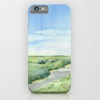 Sky and Grass Landscape Watercolor iPhone 6 Slim Case