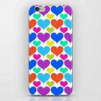 Bright Hearts iPhone & iPod Skin