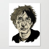 Neil Gaiman Canvas Print
