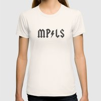 Minneapolis Womens Fitted Tee Natural SMALL