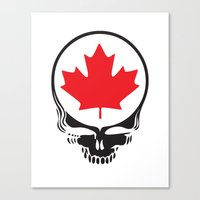 Canadian Steal Your Face (variation) Canvas Print