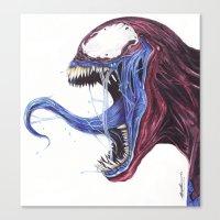 Venom Turned Spider Man Canvas Print
