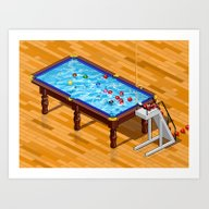 Art Print featuring It`s Not Pool It`s Snook… by Uri Tuchman