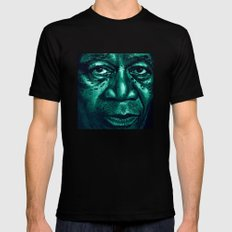 freeman in green Mens Fitted Tee Black SMALL