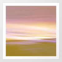 Flow - Yellow Painting Art Print