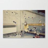 Polaroid Queen Canvas Print