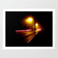 fog night. Art Print