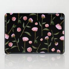 Peonies on Black iPad Case