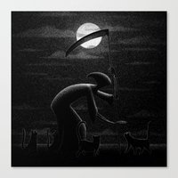 Drawlloween 2015: Black … Canvas Print