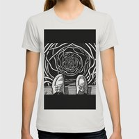 THE EDGE Womens Fitted Tee Silver SMALL