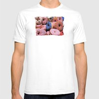 Donuts - JUSTART © Mens Fitted Tee White SMALL