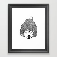 Smiling Is Good For You. Framed Art Print
