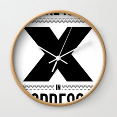 No X in Espresso – Black Wall Clock