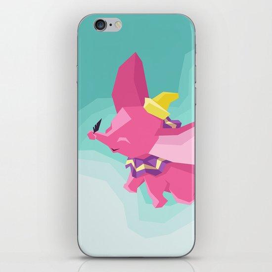 The Flying Elephant iPhone & iPod Skin
