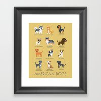 AMERICAN DOGS Framed Art Print
