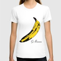 Go Banana  Womens Fitted Tee White SMALL