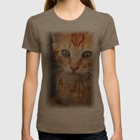 Cat Womens Fitted Tee Tri-Coffee SMALL