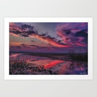 Cool clouds.... Art Print